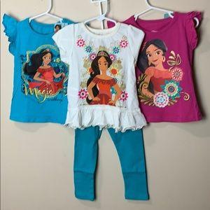 Disney's Elena of Avalor, 1 pair of pants & 3 tops